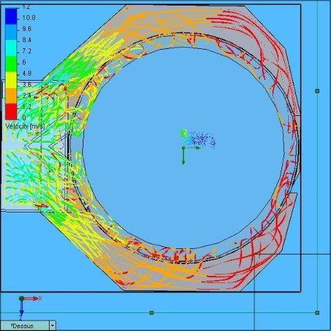 2.13, 367, Voith HydroAvec défl 30°-27°, Flow trajectories Tout, Dessus
