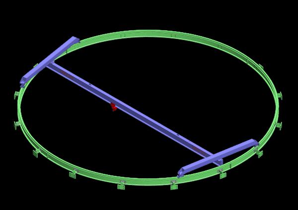 Pont roulant circulaire pour un puit turbine - ABMS Consultants