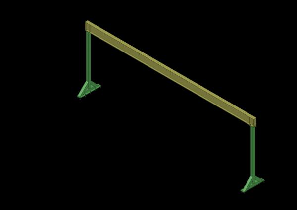 Conception sur mesure d'un monorail 48 pieds 3 tonnes